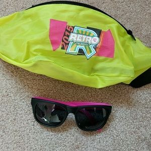 Accessories - 80's Style Neon Fanny Pack & Sunglasses